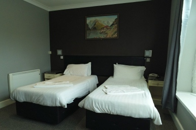 Twin room at Boston Manor Hotel